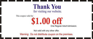 Coupon for one dollar off parking